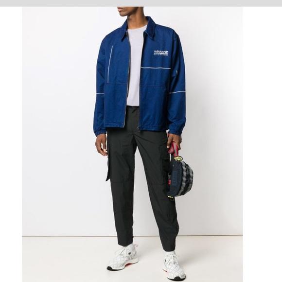 Adidas staple indigo light denim jacket sz xl NWT
